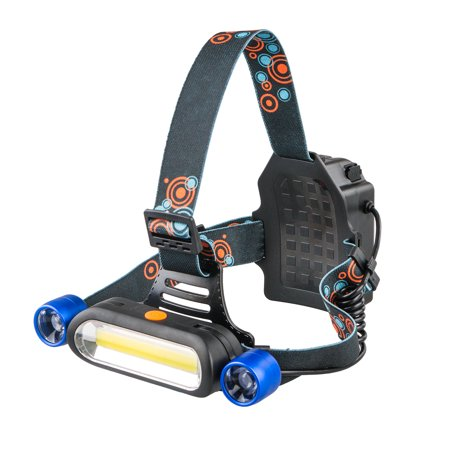 TSV 15000LM 2 x XM-L T6 LED COB Headlamp Head Light Torch Rechargeable Headlight with 4 Brightness Modes. Perfect for Running, Camping, Hiking and