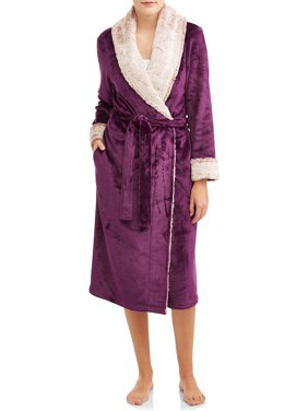 Women's and Women's Plus Secret Treasures Superminky Plush Robe