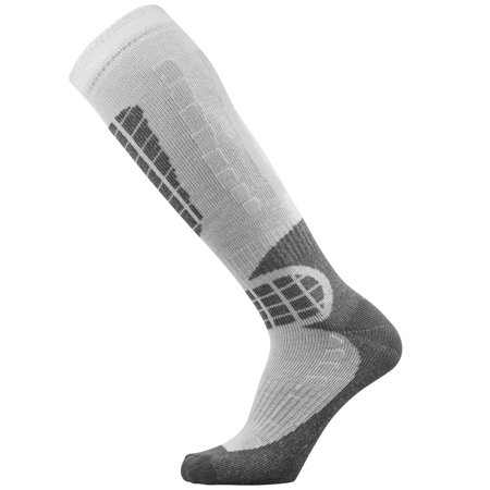 Pure Athlete Ski Socks - Best Lightweight Warm Skiing Socks Silver/Grey Large / (Best Lightweight Warm Clothing)