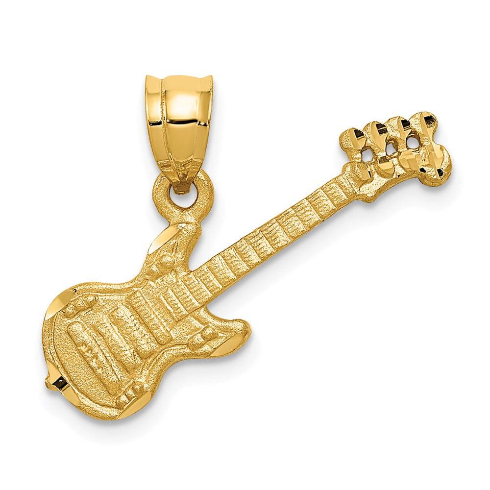 14k Yellow Gold Musical Series Guitar Pendant