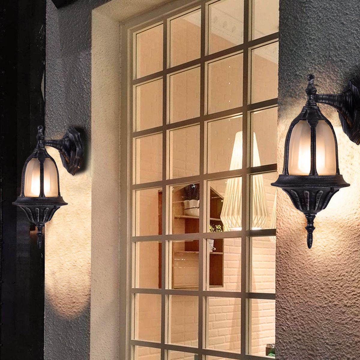 Costway outdoor garages front porch light exterior wall light fixtures waterproof 4 pack