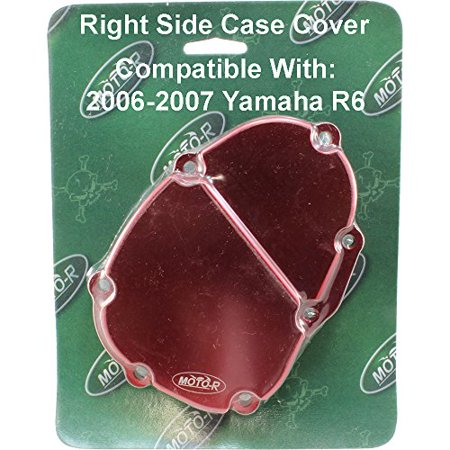 Moto-R 2006-2007 Yamaha R6 Billet Aluminum Right Side Case Cover Anodized Red