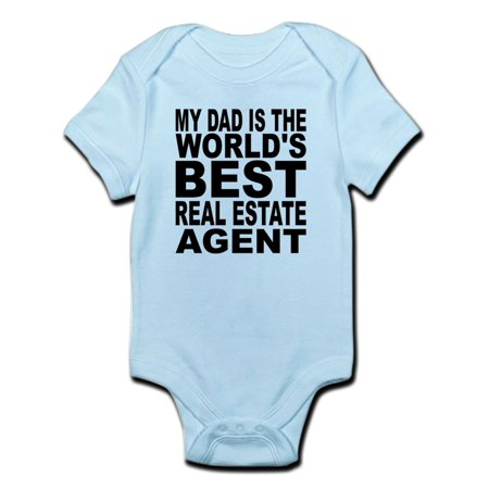 CafePress - My Dad Is The Worlds Best Real Estate Agent Body S - Baby Light