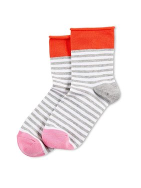Hue Women's Roll-Top Shortie Socks (Fever)