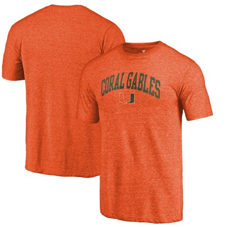 Miami Hurricanes Fanatics Branded Hometown Arched City Tri-Blend T-Shirt - Heathered Orange