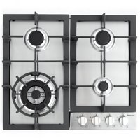 """Magic Chef 24'"""" Built-In Gas Cooktop in Stainless Steel"""