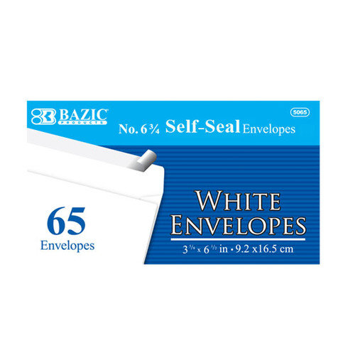 Bazic 65 Ct. Self-Seal Envelopes (Set of 24)
