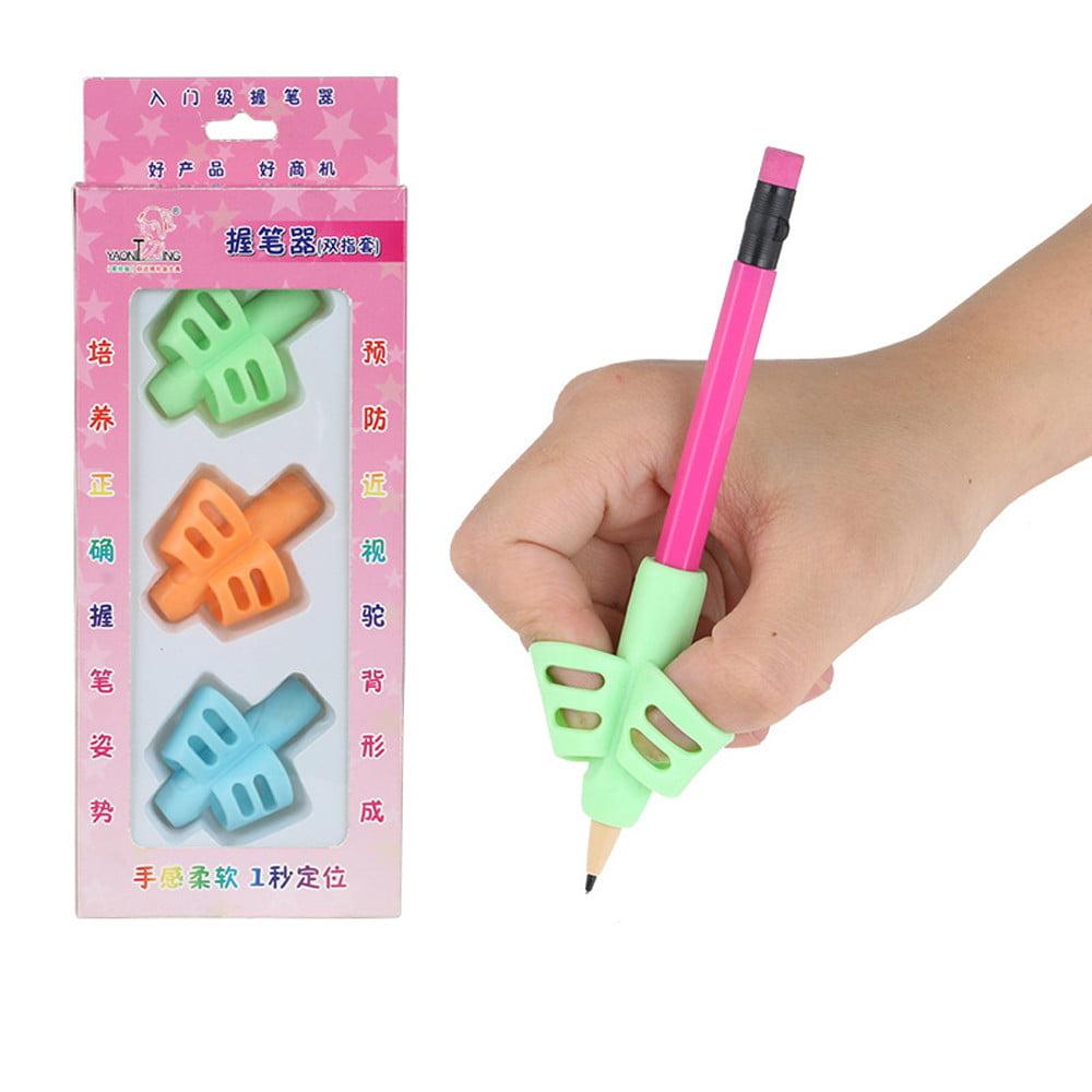 Jesuscrandsall 3PCS Children Pencil Holder Pen Writing Aid Grip Posture Correction Tool
