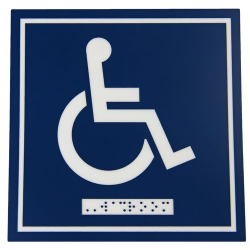 Frost Products Wheelchair Symbol Comes with Braille Emboss
