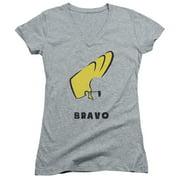 Johnny Bravo Johnny Hair Juniors V-Neck Shirt