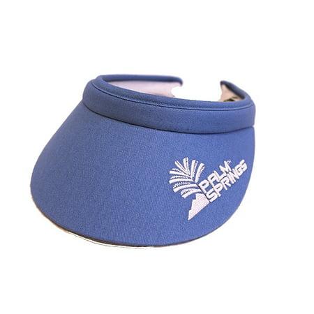 Golf Terry Visor - Palm Springs Golf Lady Soft Clip Visors-Blue