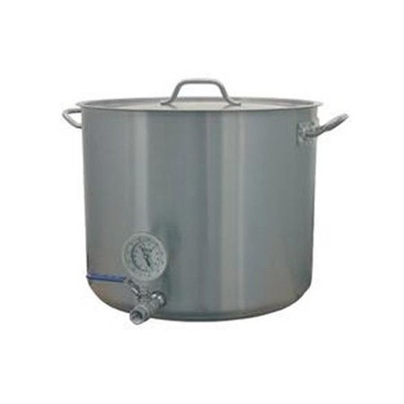 15 GALLON HOME BREW KETTLE STOCK POT W VALVE THERMOME