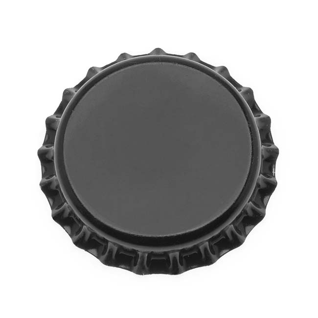 New Black Crown Bottle Caps Craft Scrapbook Jewelry (50)