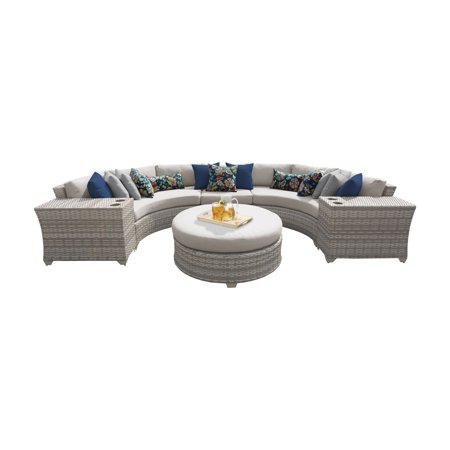 Enjoyable Tk Classics Fairmont 06C Wicker 6 Piece Conversation Set Cjindustries Chair Design For Home Cjindustriesco