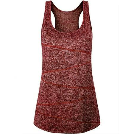 Tuscom Women Sleeveless Yoga Tops Activewear Running Workout Shirt Tunic Vest Tank (Adidas Supernova Sleeveless Running Top)