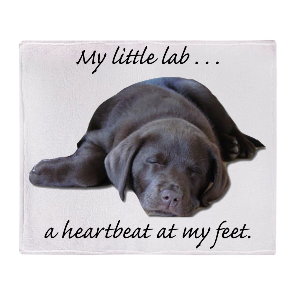 "CafePress Chocolate Lab Heartbeat Soft Fleece Throw Blanket, 50""x60"" Stadium... by"