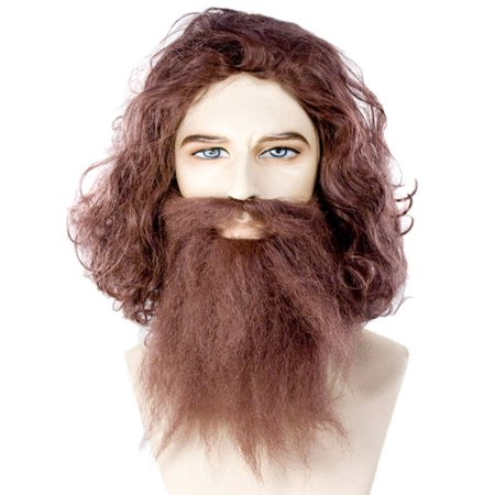 Caveman Guy Wig & Beard Set - Anime Guy With Beard