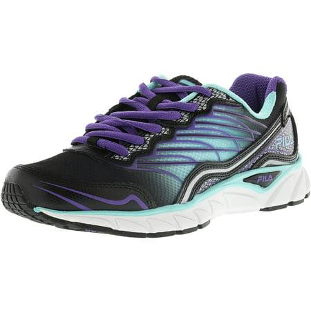Fila Women's Memory Countdown 3 Black Aruba Blue Electric Purple Ankle High Running Shoe 7M