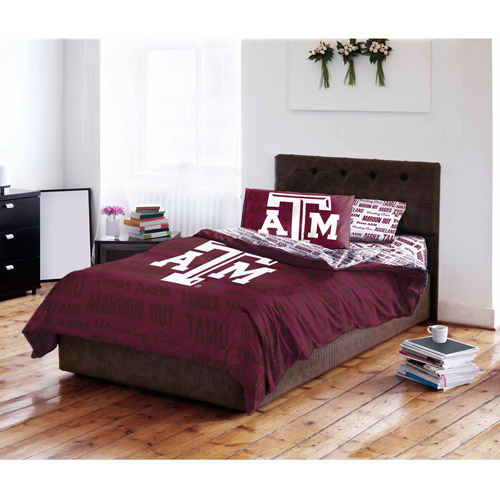 NCAA Texas A&M University Aggies Bed in a Bag Complete Bedding Set