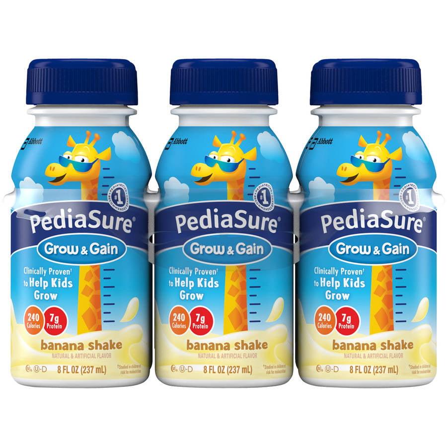 PediaSure Grow & Gain Banana Shakes, 8 fl oz, 6 pack