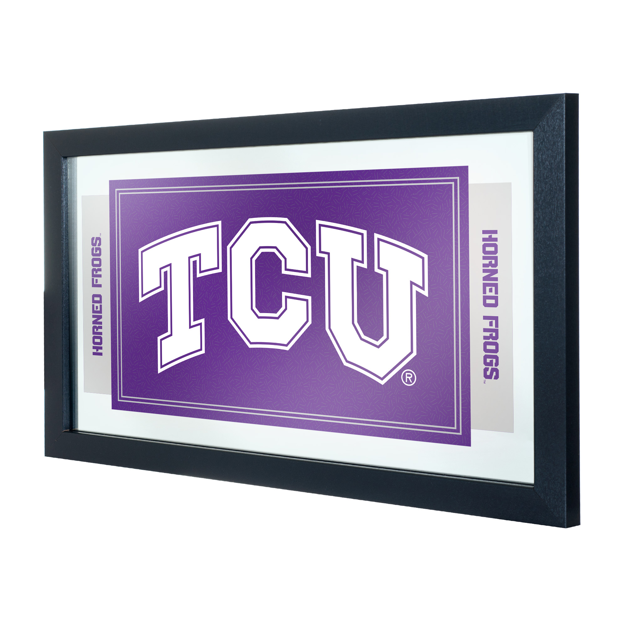 NCAA Texas Christian University Logo and Mascot Framed Mirror