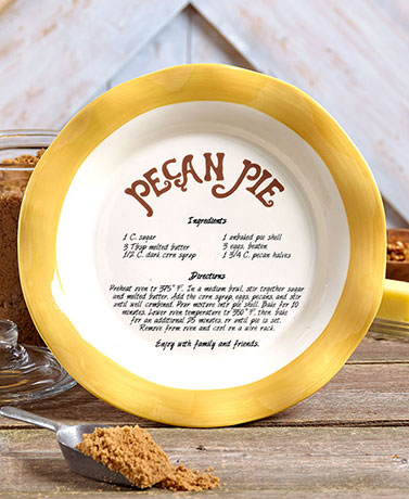 Country Style Recipe Pie Plate. Chicken Pot Pie Recipe Included. Gifted w A Bow by