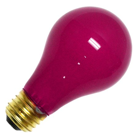 Industrial Performance 60198 60a19 Ceramic Pink 130v Standard Solid Ceramic Colored Light Bulb