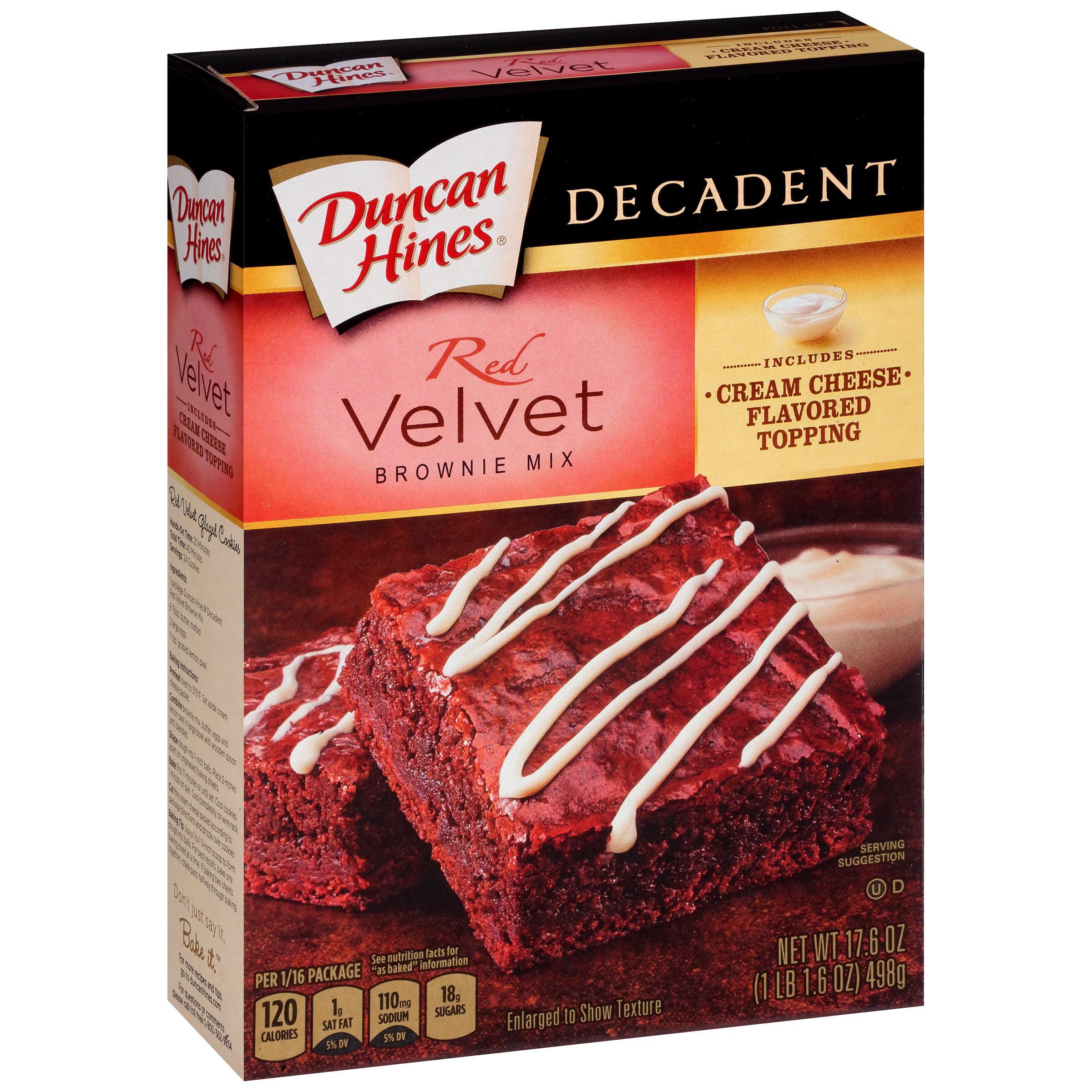 Duncan Hines Decadent Brownie Mix Red Velvet 176 OZ Walmartcom