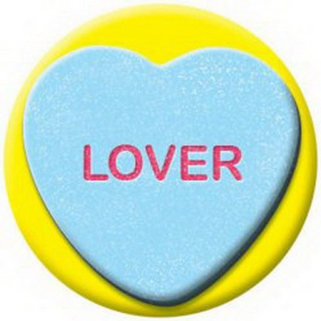 Valentine Heart Candy Lover Button (Lovers Button)
