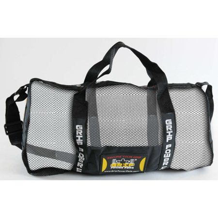 Grip Power Pads Mesh Gear Bag - Multipurpose Gym Bag, Beach Bag Scuba Diving Bag & More - Adjustable Shoulder Strap (Black, One Size)