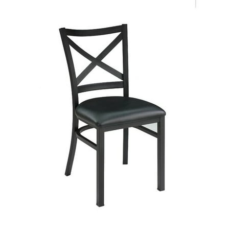 New Spec Inc Restaurant Genuine Leather Upholstered Dining Chair (Set of 2)