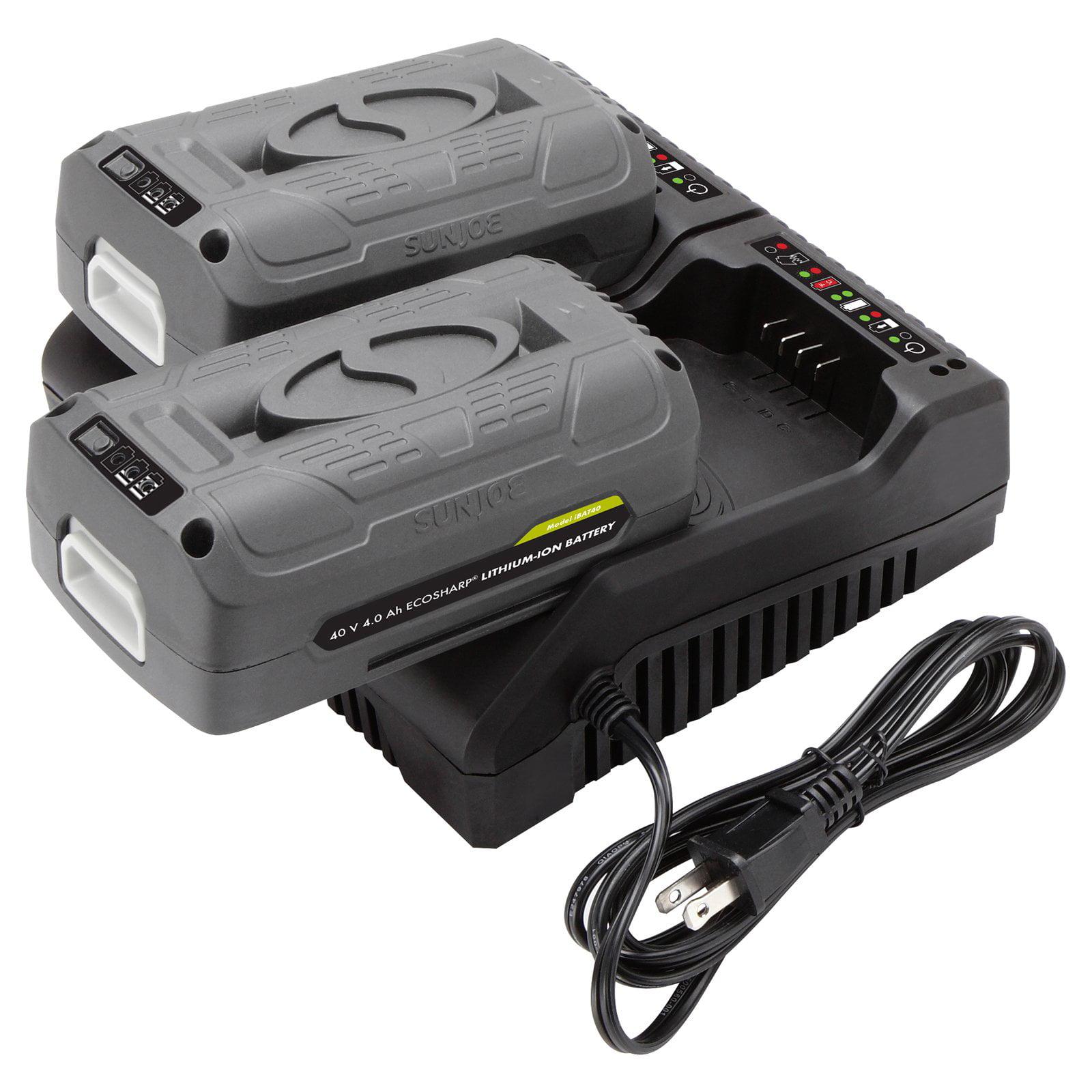 EcoSharp 40V Dual Port Battery Charger