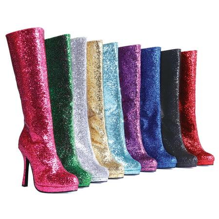 Zara Silver Boots (421-Zara Glittering Adult)