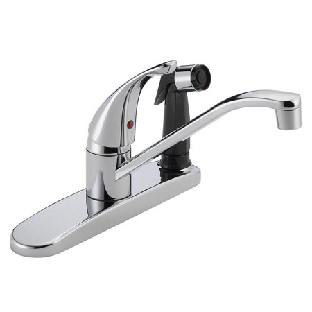 Peerless P114lf Widespread Kitchen Faucet And Side Spray Chrome
