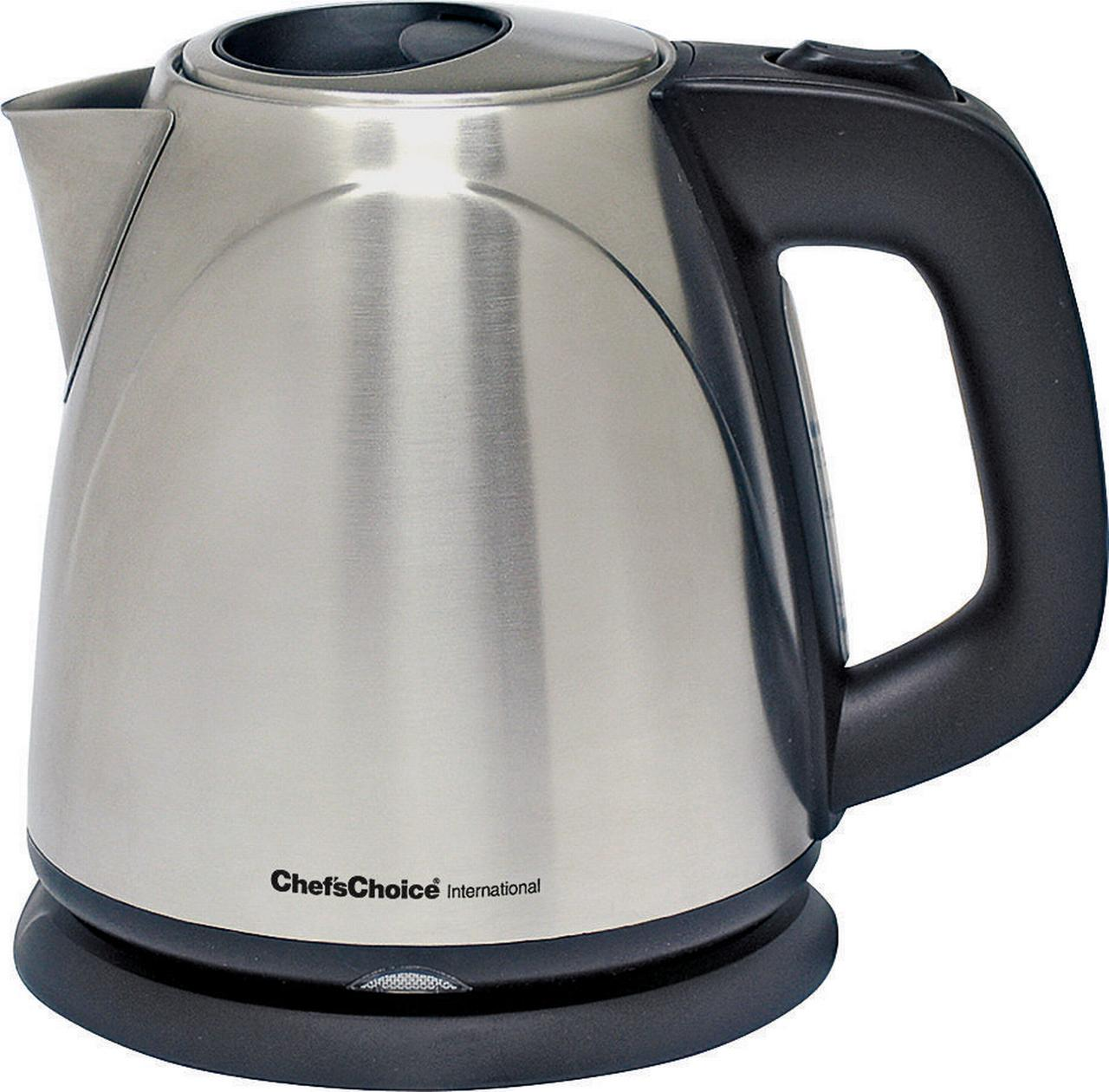 Chef'sChoice International Compact Cordless Electric Kettle, 120 VAC, 1500 W, Stainless Steel