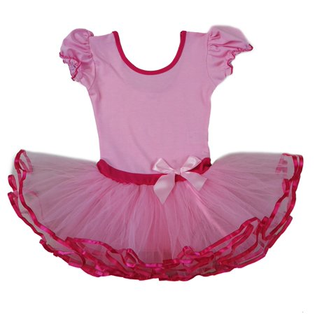 Wenchoice Pink & Hot Pink Ballet Dress Girls M(3Y-4Y)
