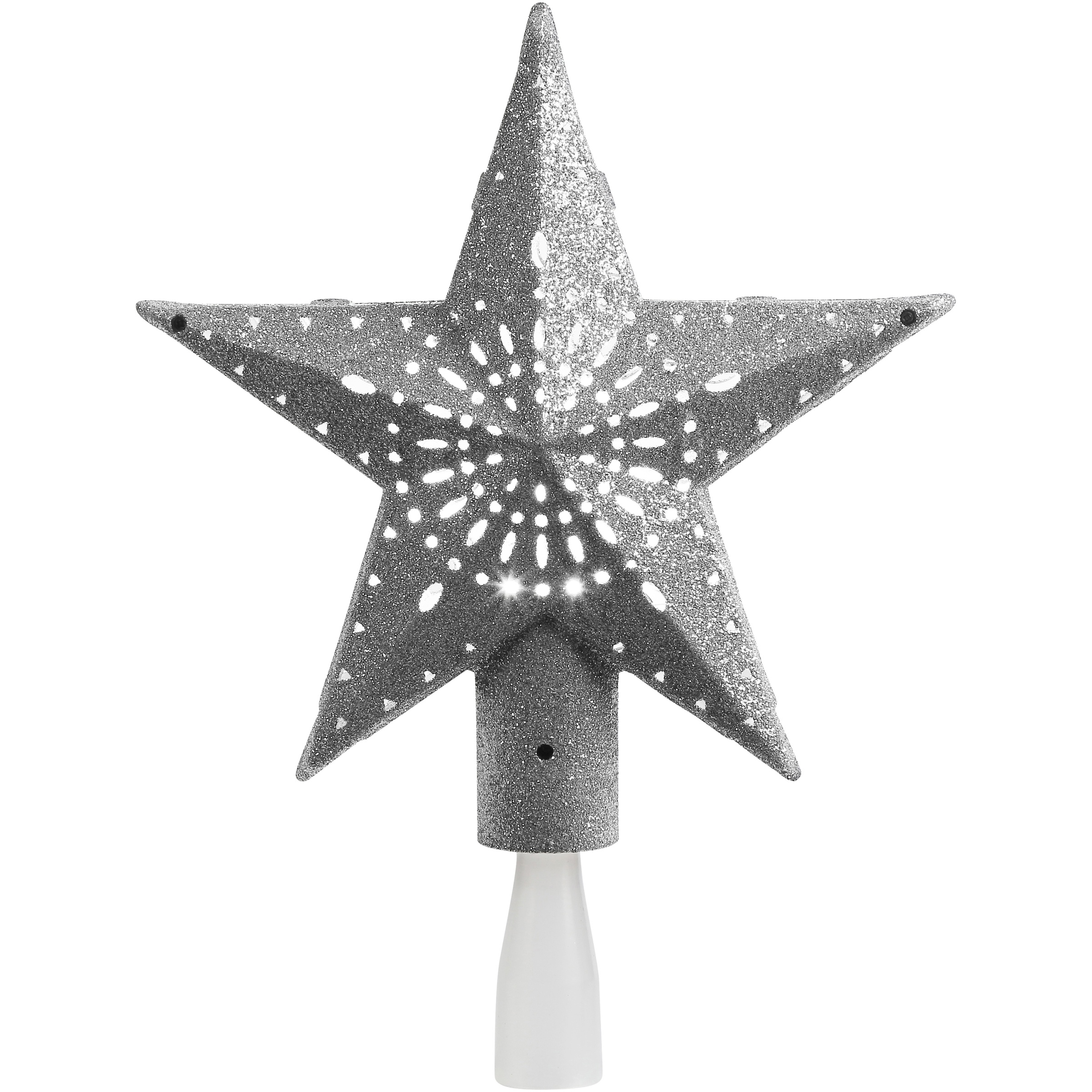 Holiday Time 11-Inch LED Tree Topper, Cool White, Indoor Use Only