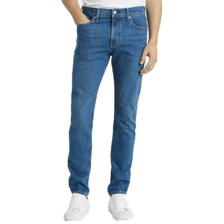 Calvin Klein Jeans Men's Slim-Fit Stretch Logo Jeans (Blue, 40X32) Calvin Klien Jeans
