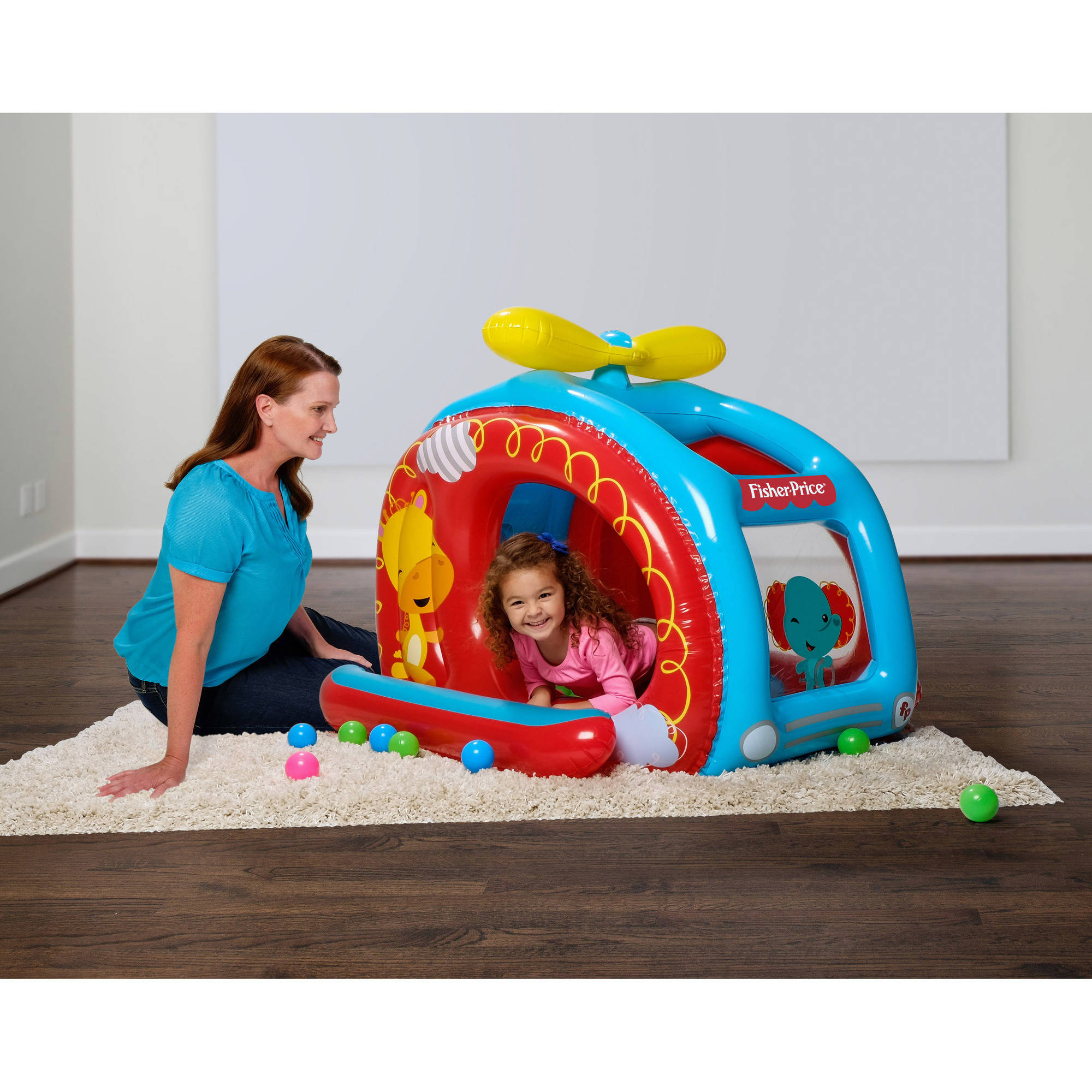"Fisher-Price Helicopter Ball Pit, 54"" x 44"" x 38"""