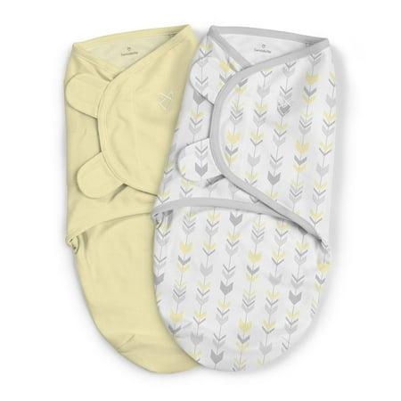 a96c7579526 Summer Infant SwaddleMe 2 pk Cotton SM - Yellow Arrows - Walmart.com