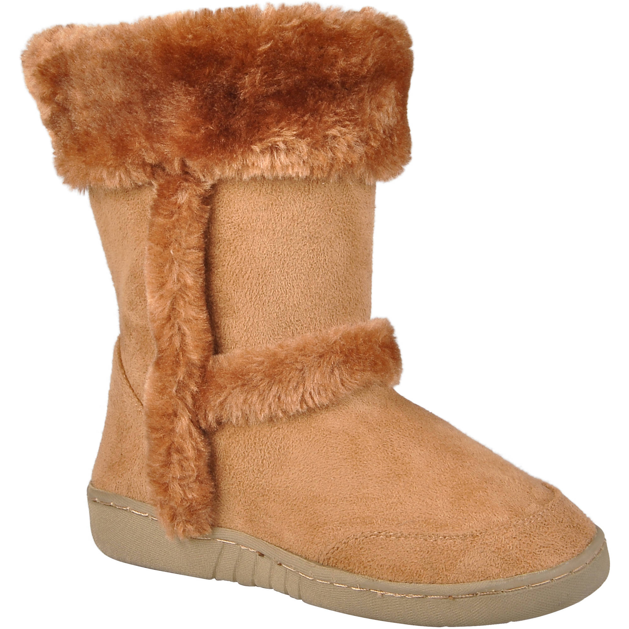 Brinley Co Girls Faux Fur Trim Boots