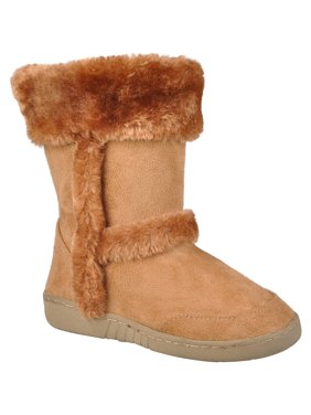 c2119b421133 Product Image Brinley Kids Girl s Faux Fur Trim Boots