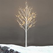 4FT 48 LED Lighted Birch Tree Christmas Tree for Home,Festival,Party,Christmas,Indoor and Outdoor Use