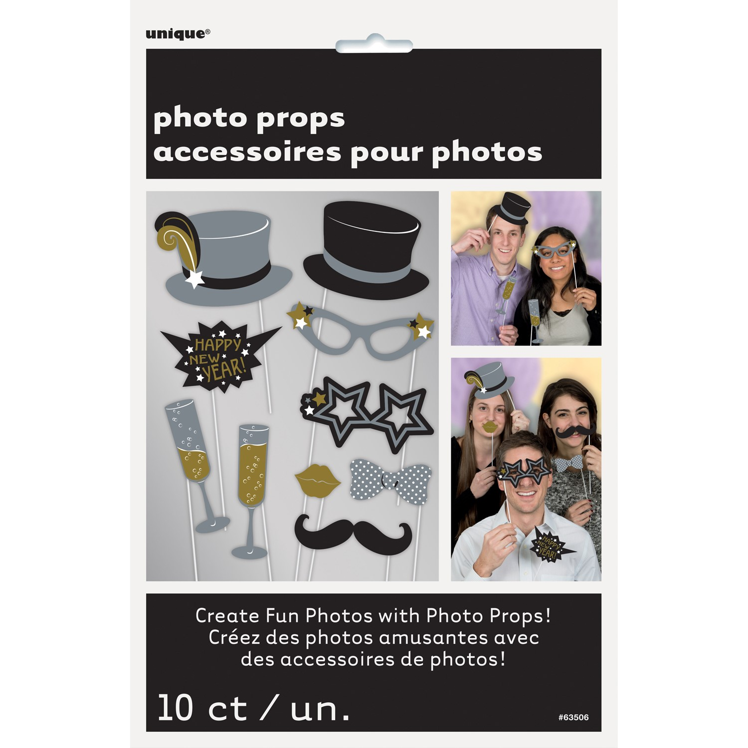 New Years Eve Photo Booth Props 10 Count Walmartcom