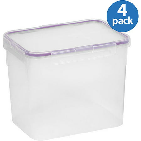 Snapware Air Plastic 17 Cup Rectangle Food Storage Container 4 Pack