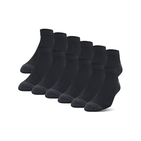 Gildan Men's Half Cushion Terry Foot Bed Low Cut Socks,