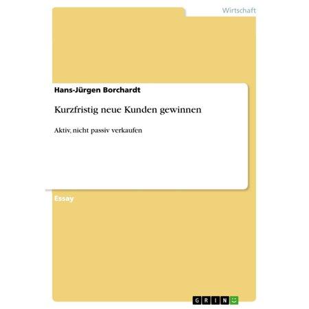 Kurzfristig neue Kunden gewinnen - eBook (Sonnenbrille Gewinnen)