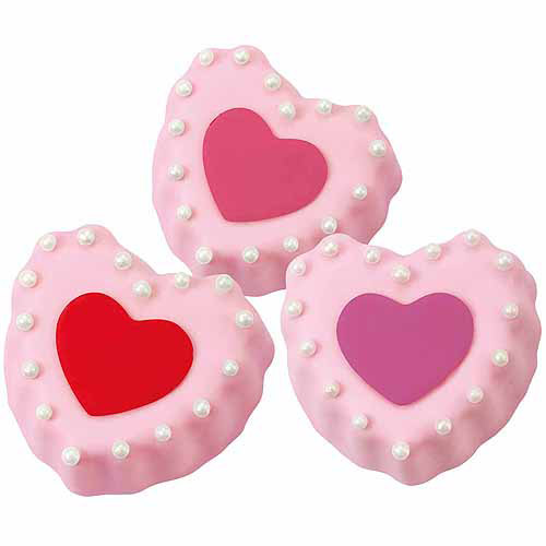 Wilton Novelty 6-Cavity Ruffled Cake Pan, Mini Hearts 2105-0771