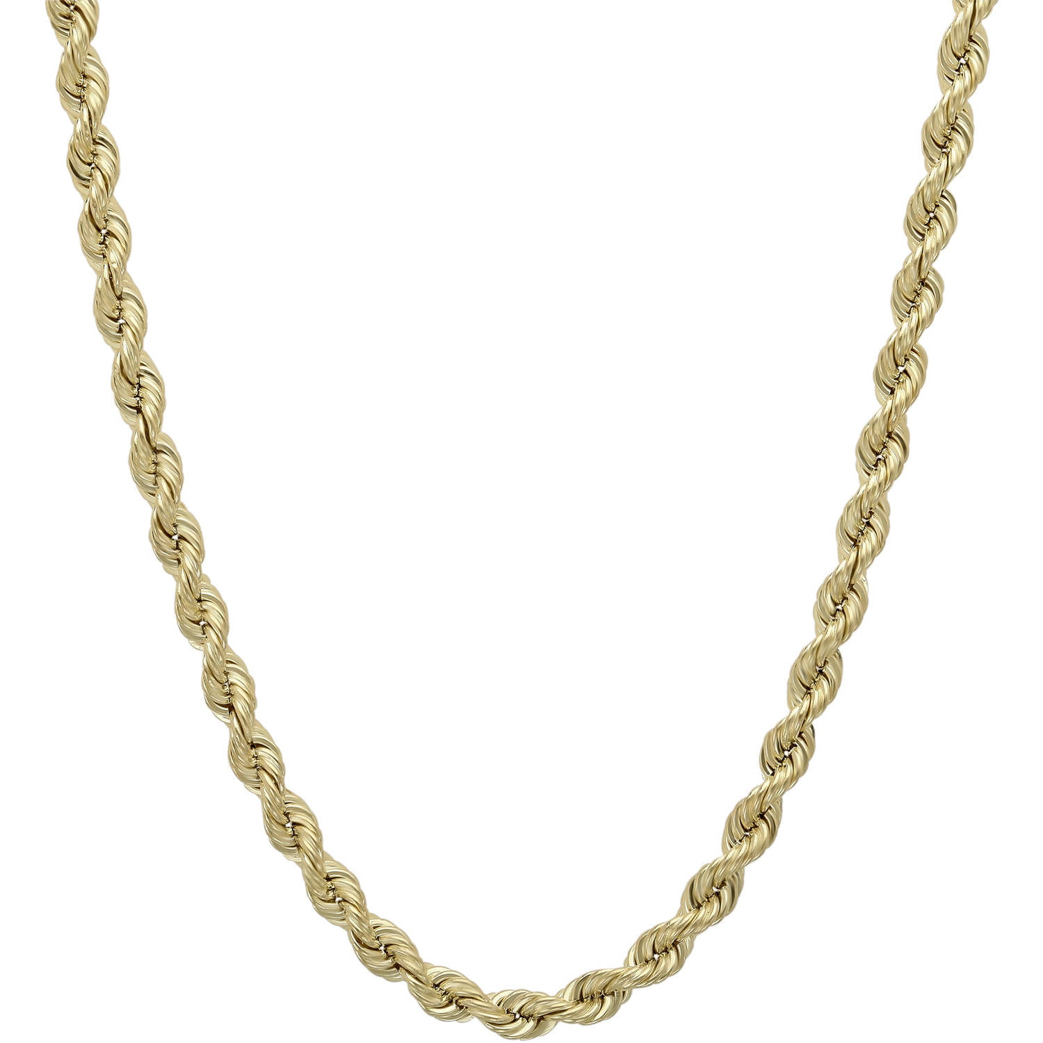 """Simply Gold 3.2mm Hollow Rope 10kt Yellow Gold Chain, 20"""" by Richline Group Inc"""