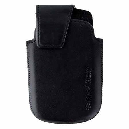BlackBerry Leather Pouch w/ Clip for BlackBerry Bold 9900 / 9930 - Black